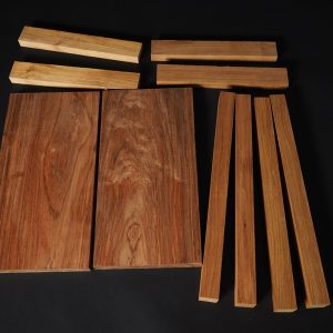 New Guinea Rosewood table kit components