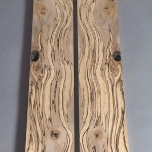 front view spalted sassafras boards