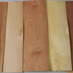 assorted timber veneer sheets