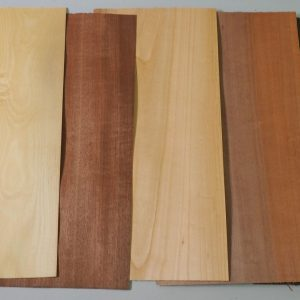 array of timber veneer sheets